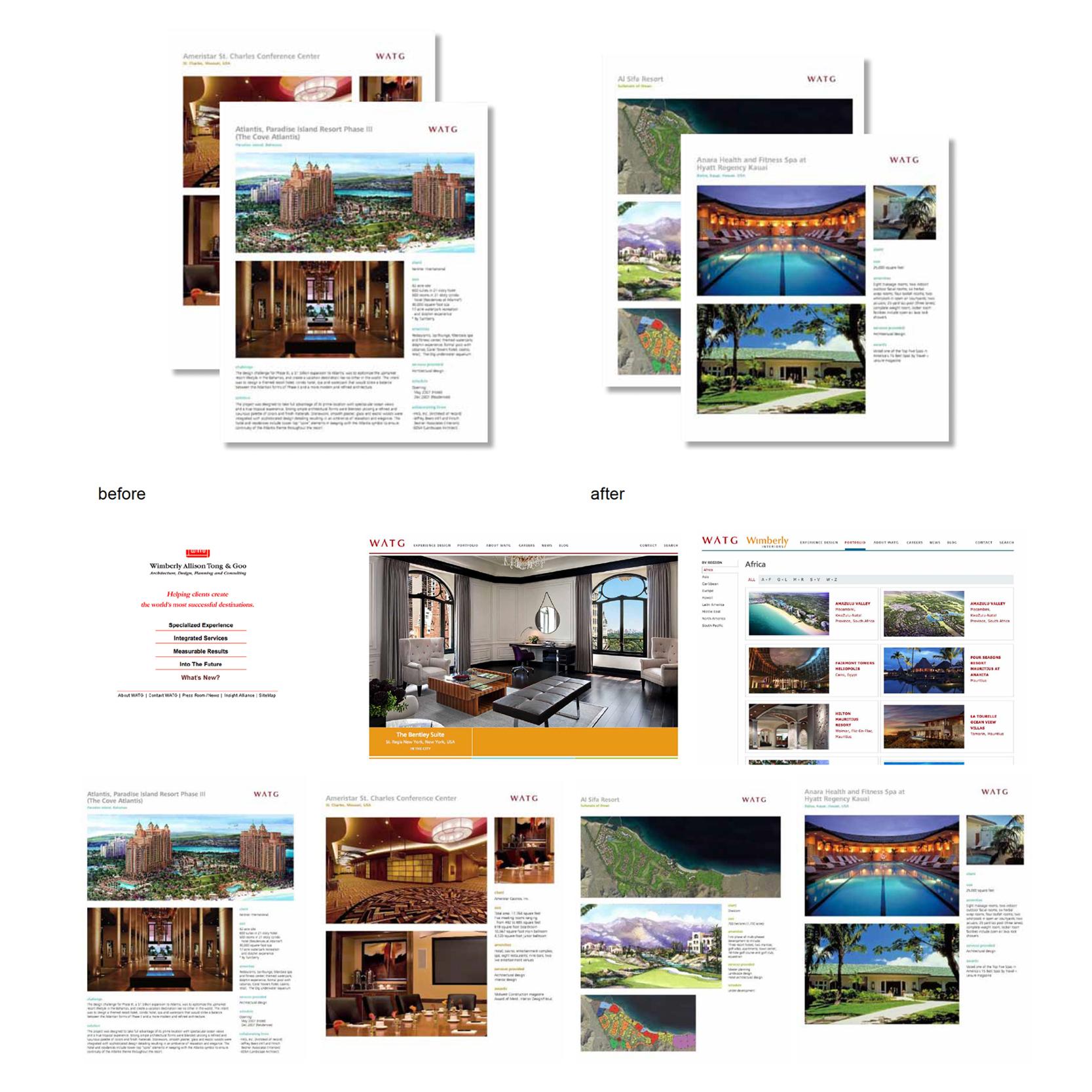 WATG Marketing Materials - One Sheets