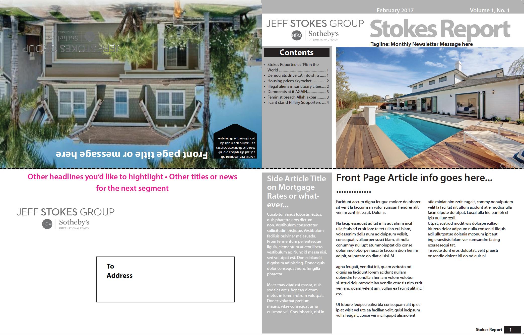 Jeff Stokes Newsletter